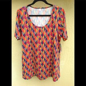 LuLaRoe L PERFECT T Multi-Color Geo Print NWT